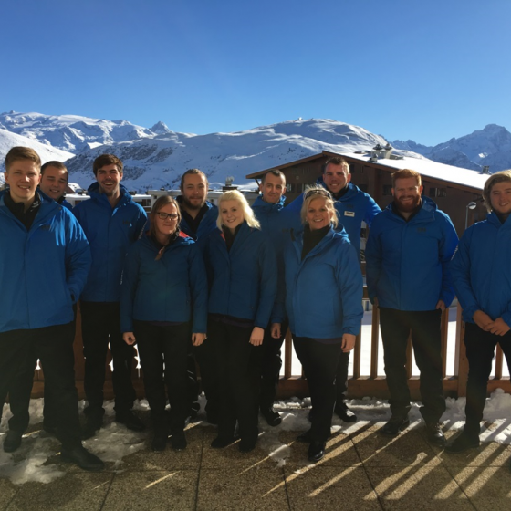 Photo of our Belle Aurore resort staff in Alpe d'Huez 2015-16