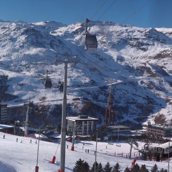 View of La Croisette 14th December 2015 ©LesMenuires.com
