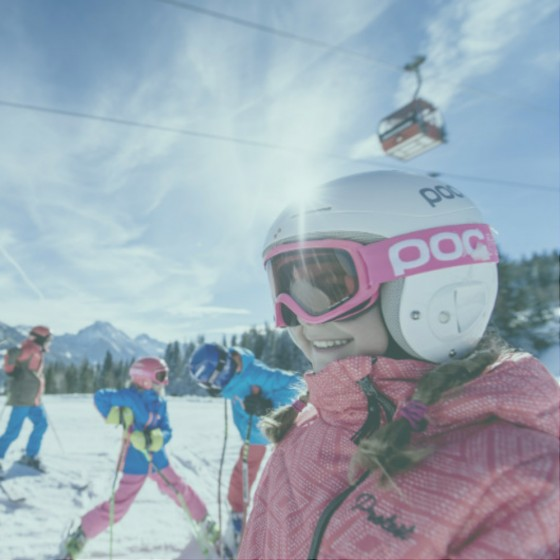 Learning to ski in France