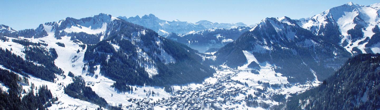 Châtel aerial shot
