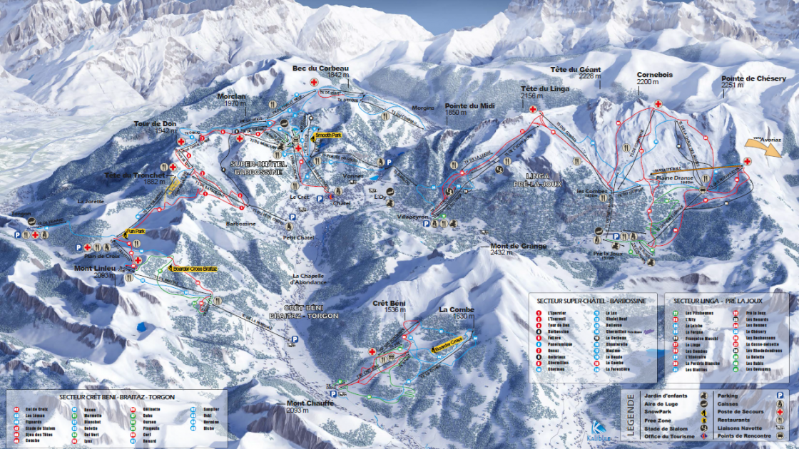 Piste map for Châtel