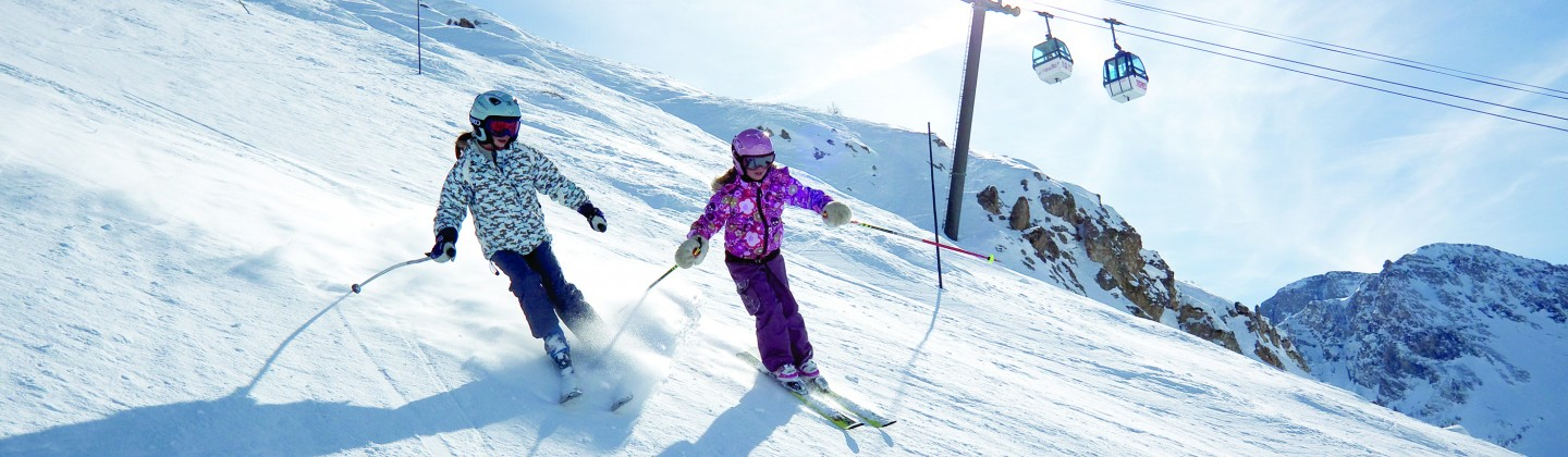 Students skiing in Tignes