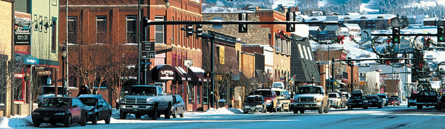 Steamboat street view, Colorado