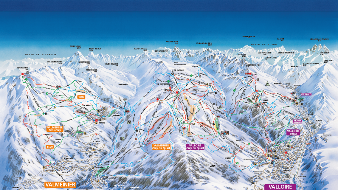 Valmeinier piste map