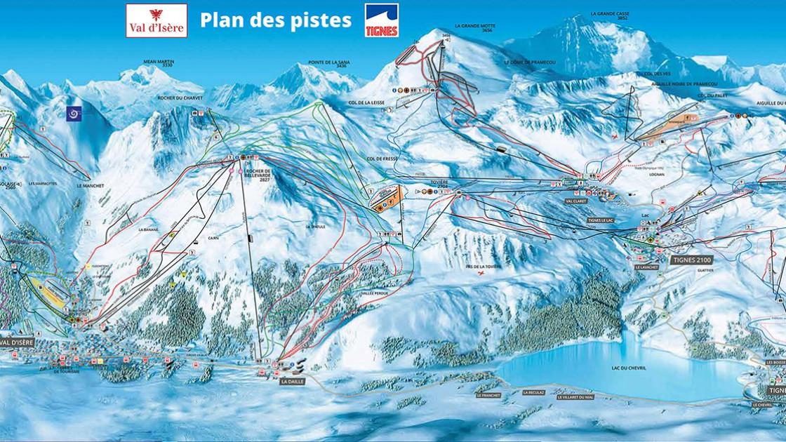 Tignes Piste Map