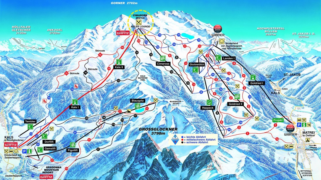 Matrei Kals piste map
