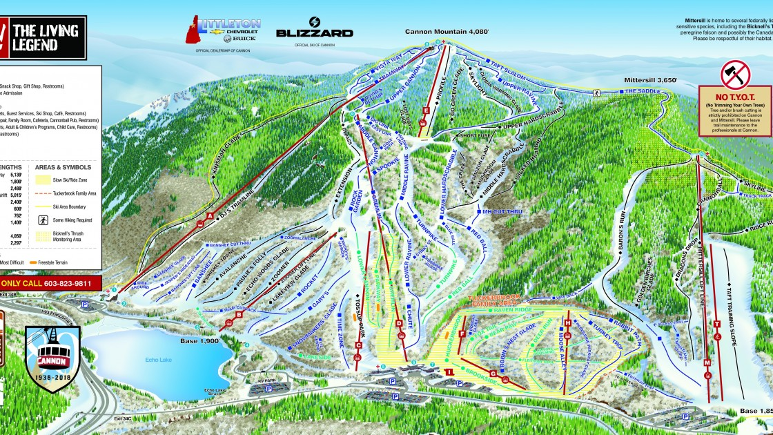 Cannon Mountain Piste Map