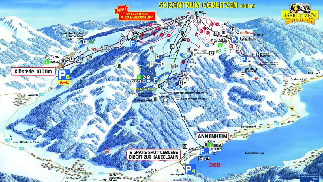 Gerlitzen piste map | Austria
