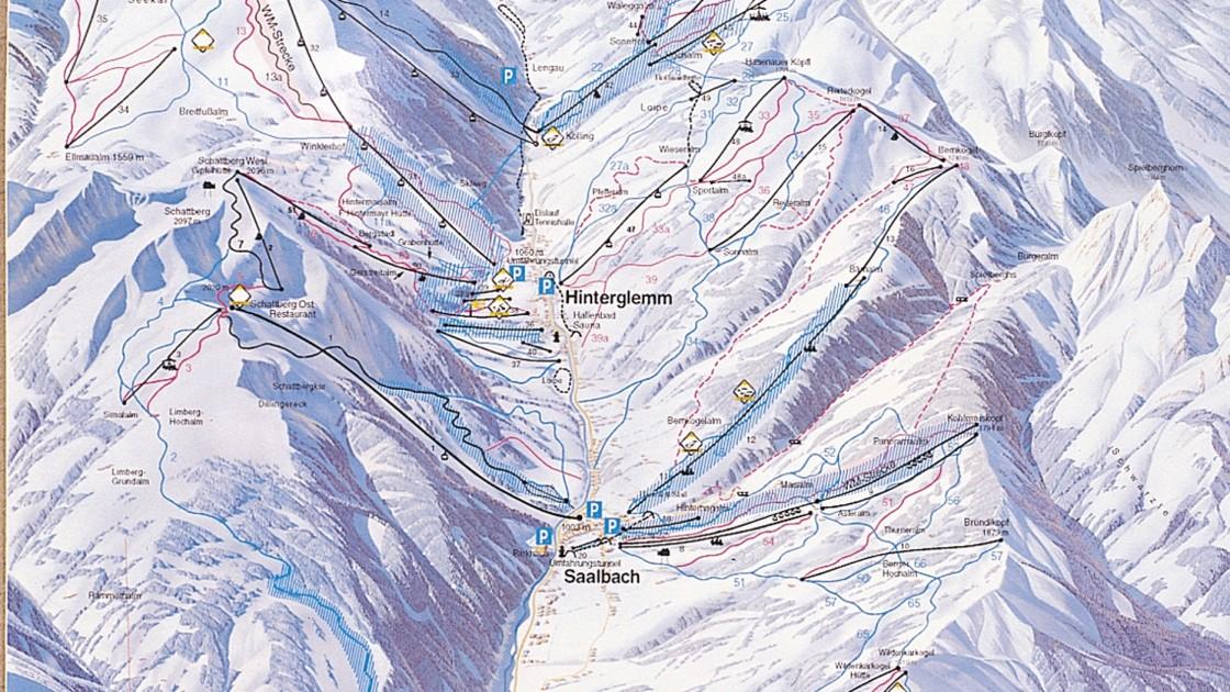 Saalbach piste map