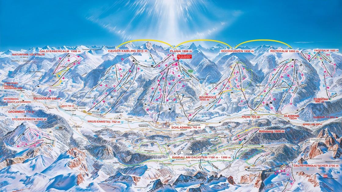 Schladming Austria Piste Map