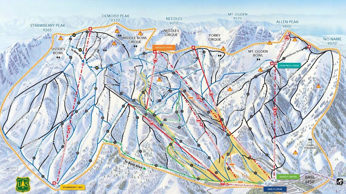 Snowbasin Trail Map