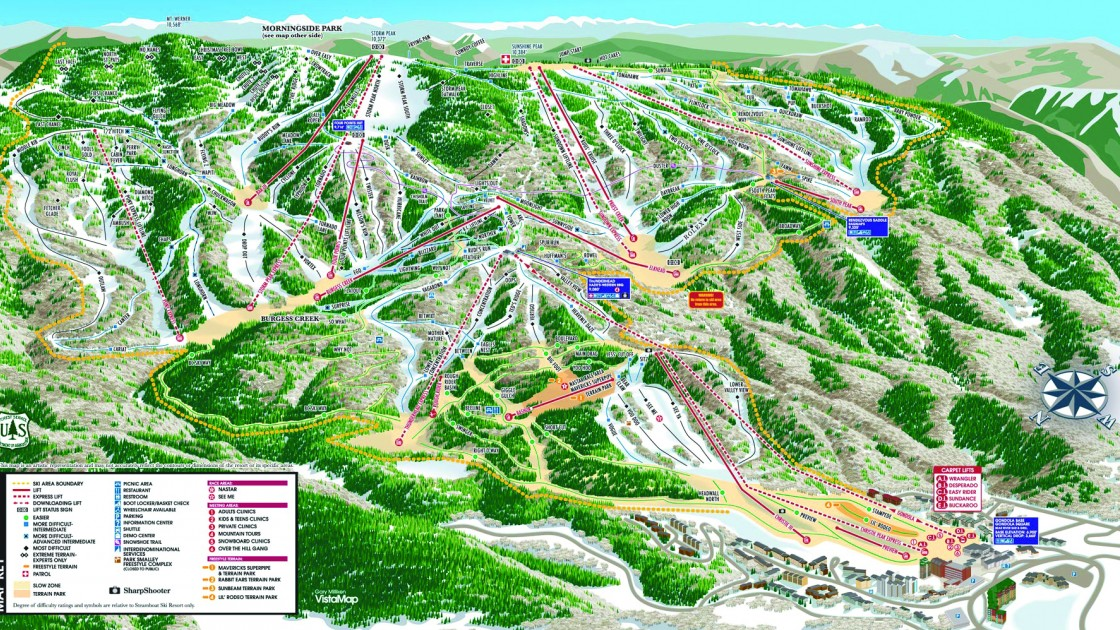 Steamboat piste map