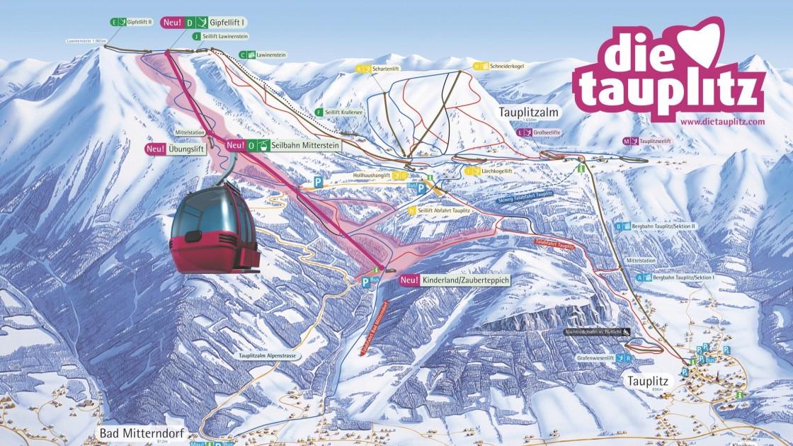 Tauplitz & Loser-Altaussee piste map