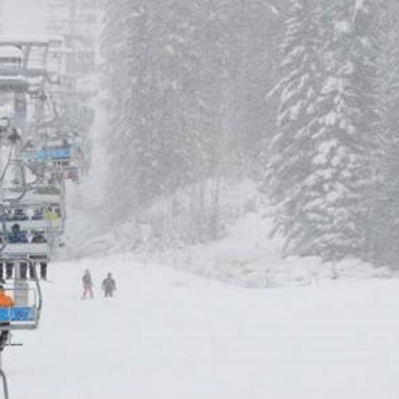 Ski lifts Panorama