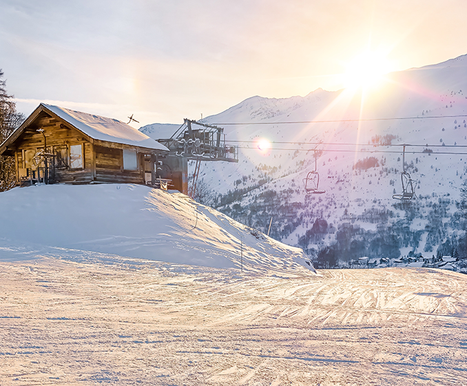 Lift station in Valloire